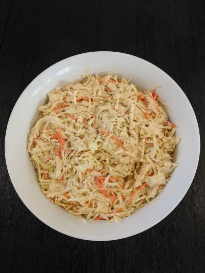 Green Cabbage, carrot, daikon and white onion Coleslaw