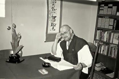 Photograph of Ven. Anzan Hoshin roshi at Daijozan, mid-1980s, by Ven. Shikai Zuiko sensei