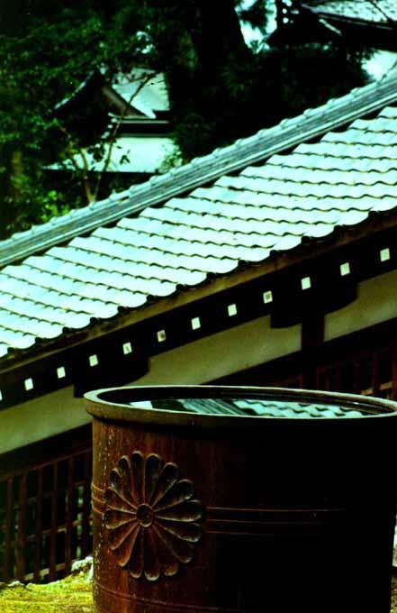 Rain basin at Eihei-ji, Photograph by Ven. Shikai Zuiko sensei