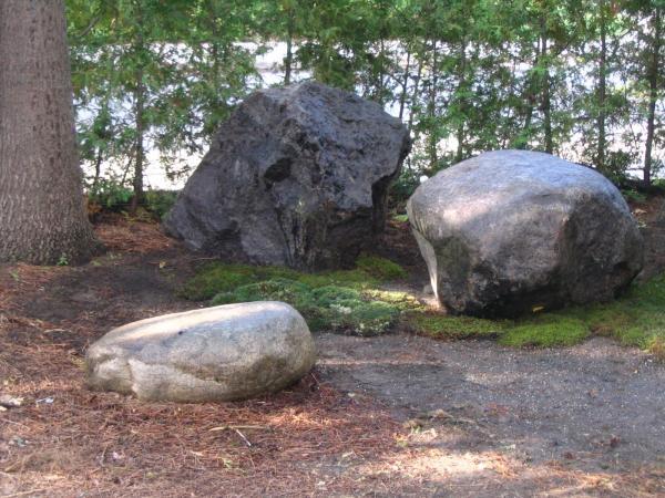 Stones on Dainen-ji's grounds