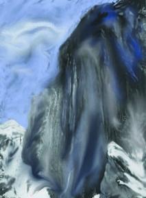 Sakyamuni Descends the Mountain (digital painting)